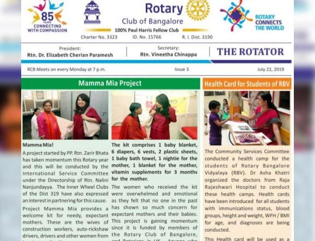 Rotators 2019-20 Issue 3     22nd July 2019