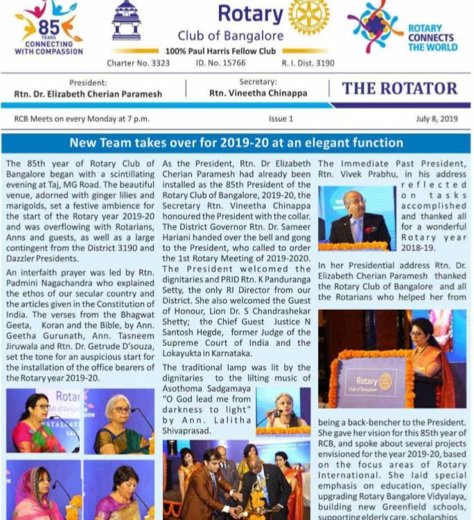 Rotators 2019-20 Issue 1     8th July 2019