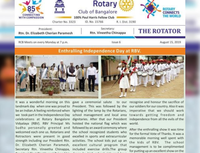 Rotators 2019-20 Issue 6     15th August 2019