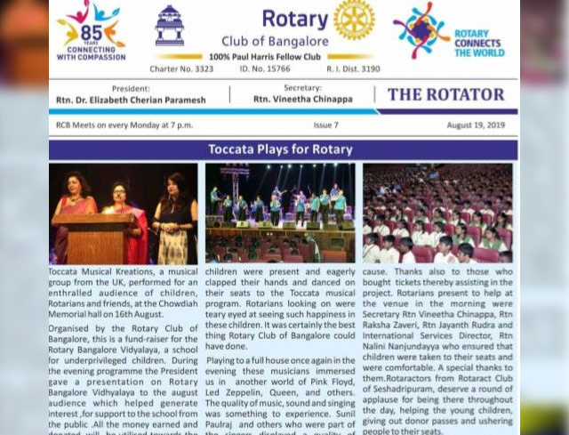 Rotators 2019-20 Issue 7     19th August 2019