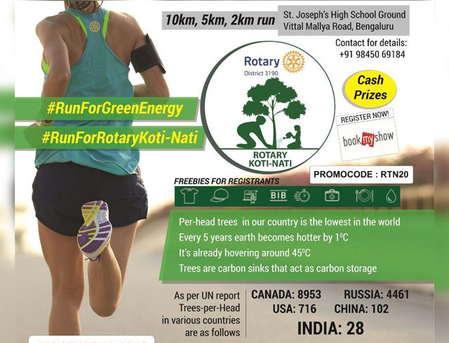 Run for Rotary Koti-Nati & Green Energy 8th September 2019