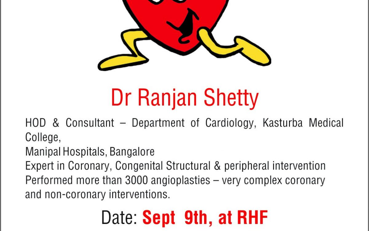 Speaker Event – Being Heart Healthy Dr. Ranjan Shetty