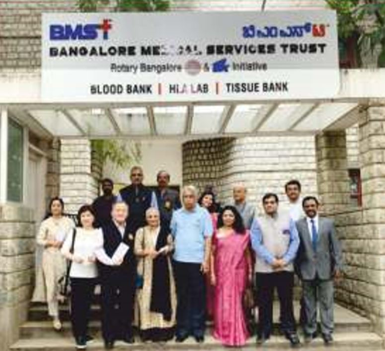 TRF Dignitaries visit Rotary TTK Blood Bank