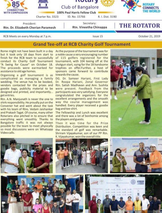 Rotators 2019-20 Issue 15     21st October 2019