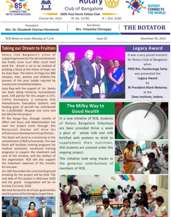 Rotators 2019-20 Issue 22  9th December 2019