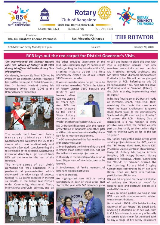 Rotators 2019-20 Issue 28  20th January 2020